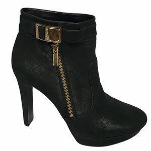 Vince Camuto Sultra booties gold buckle 9
